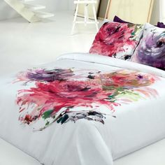 FUNDA NÓRDICA DALÍ CAÑETE Creative Colour, Cushions, Pillows, Fabric Painting, Bed Covers, Home Bedroom, Victorian Fashion, Bed Sheets, Bedding Sets