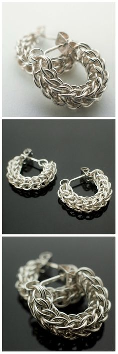 Sterling Silver Earrings #unkamensupplies #jewelrymaking #chainmaille