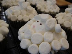 sheep cupcakes for kendall's baby shower