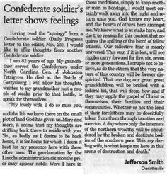 This letter from a North Carolina Confederate soldier to his wife two weeks before his death at Gettysburg shows his true feelings… American Civil War, American History, Civil War Quotes, Southern Heritage, Religion And Politics, Confederate Flag, Gettysburg, History Facts, Lettering