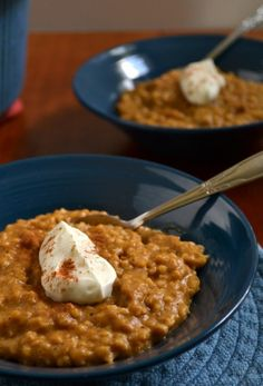 Pumpkin Pie Steel Cut Oats in the Crockpot