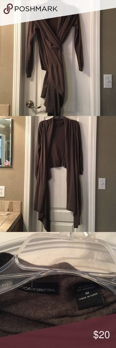Moda International wrap sweater Moda International wrap sweater, size M. Bought from Victoria Secret. Cashmere and cotton....very soft and very versatile Moda International Sweaters Cardigans