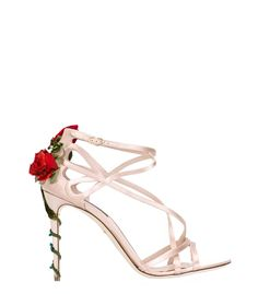 225f239184d5 Dolce  amp  Gabbana Climbing Rose Sandal Ankle Strap Shoes, Leather  Sandals, Strappy Sandals