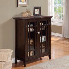 Freemont Dark Tobacco Brown Medium Storage Media Cabinet/ Buffet | Overstock.com Shopping - Great Deals on WyndenHall Media/Bookshelves