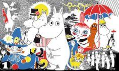Moomin - Comic Book 1 - Tapetit / tapetti - Photowall