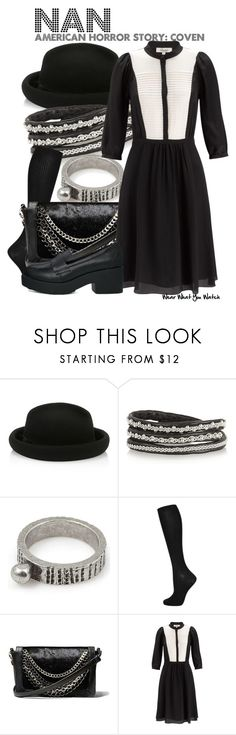 """American Horror Story: Coven"" by wearwhatyouwatch ❤ liked on Polyvore featuring Monsoon, Maria Rudman, Vanessa Mooney, Topshop, Steve Madden, Somerset by Alice Temperley, Truffle, television and wearwhatyouwatch"