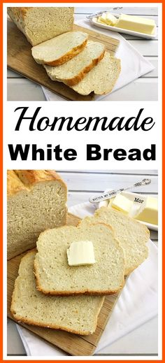 Homemade White Bread- It's easy to make your own delicious sandwich bread at home with only a couple of ingredients. Save money and eat healthier bread by making my easy homemade white bread recipe! basic breadmaking, easy bread recipe, homemade bread recipe  #easybread #homemade #bread #baking