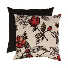 Flocked Floral 23-inch Floor Pillow | Overstock.com