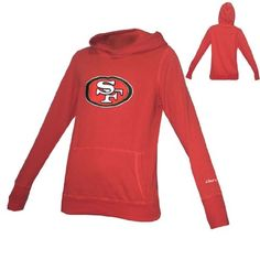 WOMENS Pink Victoria s Secret NFL San Francisco 49ers Athletic Pullover  Hoodie   Sweatshirt Jacket with Embroidered 7a4719e55