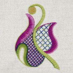 'Flora' Jacobean Crewel Work Embroidery Kit