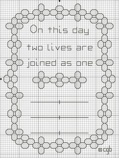Free On This Day Wedding Cross Stitch Pattern