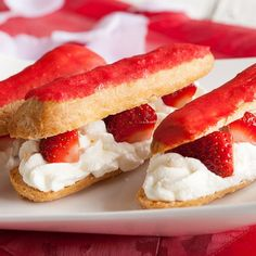 One of our favorite French baked goods is puff pastry with strawberries. Best known as strawberry eclairs, old school goodness!