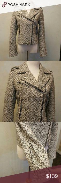 Gap houndstooth jacket Gap houndstooth jacket with zippers, in perfect condition like new, GAP Jackets & Coats