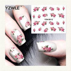 YZWLE 1 Foglio di Design FAI DA TE Trasferimento di Acqua Nails Art Sticker/Decalcomanie Del Chiodo di Acqua/Adesivi Per Unghie Accessori (YZW-8012)