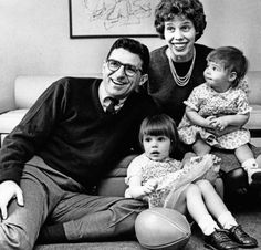 A young Coach Paterno with his family