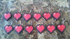 Heart Minecraft Classroom Valentine's Perler Beads