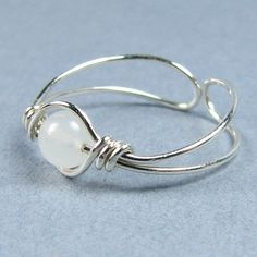 Sterling Silver Toe Ring 56 Choices Gemstone or by WireYourWorld,  Cute whimsical gift idea.