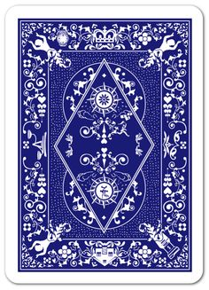 Warren Brown Solitaire Cards, Playing Cards Art, Custom Decks, Vintage Packaging, Face Design, Blue Tones, Custom Cards, Deck Of Cards, Islamic Art