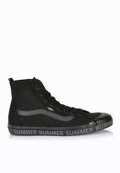 Shop Vans black Dazie Hi Sneakers for Women in UAE