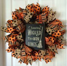 Halloween Wreath, Halloween Wreaths, Witch Wreath, Wicked Wreath, Mesh Wreaths…