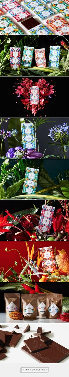 HARPER MACAW CHOCOLATE by Design Army via The Dieline - Branding & Packaging curated by Packaging Diva PD. Packaging that captures the essence of Brazil's rainforest, logo was created evoking a tribal mask while paying tribute to the namesake Harpy Eagle and Hyacinth Macaw.