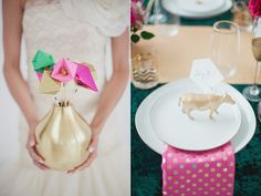 Emerald and Pink Wedding Ideas