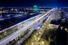 "Минск, проспект Независимости в районе метро ""Восток"""