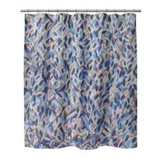Ivy Bronx Mcalpin Spectacular Floral Single Shower Curtain Size: H x W Elegant Shower Curtains, Tree Shower Curtains, Shower Curtain Sizes, Striped Shower Curtains, Bathroom Gallery, Shower Liner, Girl House, Traditional House, Ivy