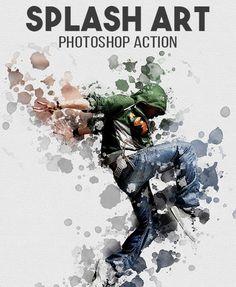 Splash Art #photoshop #action Effects Photoshop, Photoshop Actions, Photoshop Lessons, Photoshop Help, Photoshop For Photographers, Photoshop Photography, Splash Art, Lightroom, Inspiration Art