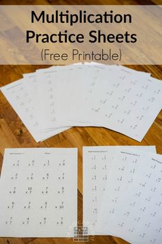 Free Printable Multiplication Practice Sheets - Gradually learn the times tables using these free practice sheets. Great for elementary students in and grade. via Research Parent Informations Multiplication Practice Sheets, Learning Multiplication Facts, Math Fact Practice, 4th Grade Math Worksheets, Free Math Worksheets, Third Grade Math, Math Facts, Multiplication Table Printable, Math Help