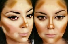 This is where and how i contour my face. I am using mac prep and prime in liight boost for highlighting and maybelline fit me foundation stick in cuppochino for my contour. then i blend it all with a damp beauty blender.