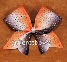 Orange, Black and White Ombre Rhinestone Cheer Bow by MyFierceBows on Etsy https://www.etsy.com/listing/286371141/orange-black-and-white-ombre-rhinestone