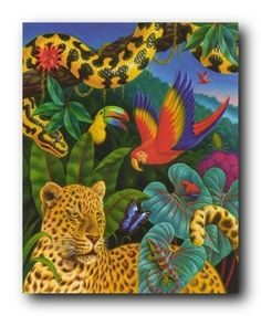 Jungle Animals Tiger, Parrot, Lizard, Snake and Butterfly... https://www.amazon.com/dp/B00TQQYLFE/ref=cm_sw_r_pi_dp_x_i6m7xb70QH6NQ