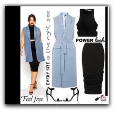 Power Look:Every Size Is The Right Size by emcf3548 on Polyvore featuring T By Alexander Wang, Topshop, Rick Owens, Dorothy Perkins, Kendra Scott, MAC Cosmetics and powerlook