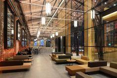 Theatre Netherlands architecture Den Helder industrial theatre glass hall