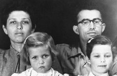 Holocaust Survivor Hanna Bar Yesha with her husband Chaim and their two daughters, 1958