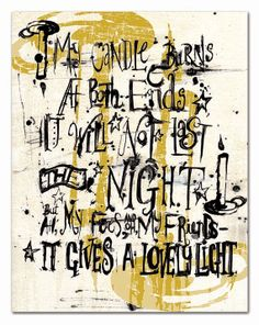 My Candle Burns At Both Ends Digital Print by whitneywaddelldesign, $12.00
