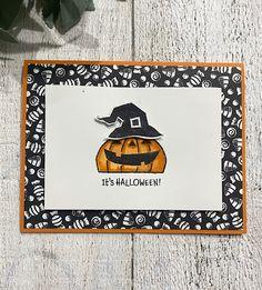 Halloween Scrapbook, Halloween Night, Holidays Halloween, Halloween Ideas, Homemade Greeting Cards, Homemade Cards, Cat Cards, Kids Cards, Holiday Cards