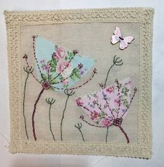 Long Tailed Tit embroidery, hand dyed fabrics free motion e Freehand Machine Embroidery, Free Motion Embroidery, Free Machine Embroidery, Embroidery Applique, Embroidery Stitches, Embroidery Designs, Fabric Cards, Fabric Postcards, Sewing Art