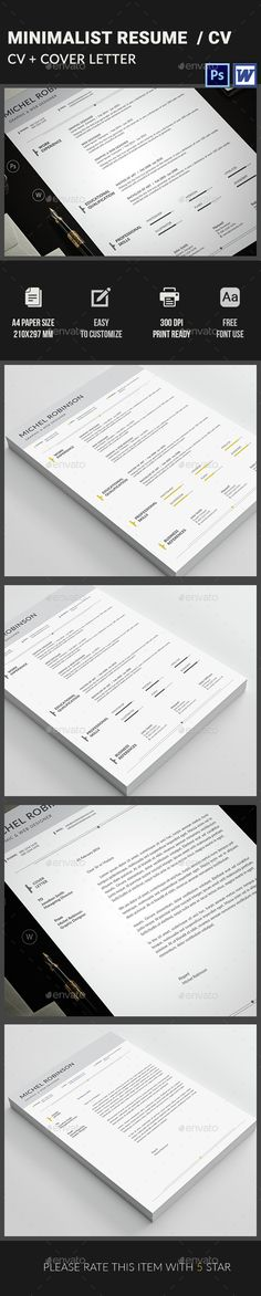 Modern Resume Template Premium line of Resume \ Cover Letter - apple pages resume template