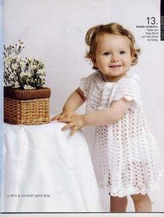 Croche e Muito Mais- Graficos: Vestido para Bebê em Croche