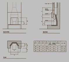 chimney fireplace construction plans rumford - Google Search