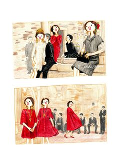 Best DolceGabbana FW13 fashion illustrations selected by Marcus Kan - Artist - Lisa Huang