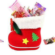 amazones gadgets WB Santa Pattern Christmas Decoration Flocking Stocking Boot Candy Bag, Size: 14: Bid: 11,03€ Buynow Price 10,48€…