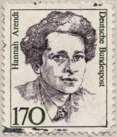 """Hannah Arendt  [1906 – 1975] was a German-American political theorist. Though often described as a philosopher, she rejected that label on the grounds that philosophy is concerned with """"man in the singular"""" and instead described herself as a political theorist because her work centers on the fact that """"men, not Man, live on the earth and inhabit the world"""
