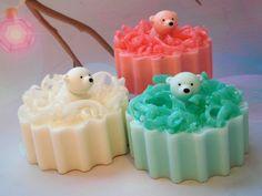 Bear Soap - Polar Bear Soap - Polar Bear Toys - Christmas Soap - Holiday Soap - Confetti Soap - Stocking Stuffers - Kids Soap - Novelty Soap by CindysBathCreations on Etsy https://www.etsy.com/listing/476507204/bear-soap-polar-bear-soap-polar-bear
