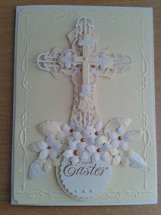 Easter card spellbinders