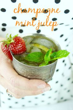 Make a mint julep with champagne to celebrate spring. This cocktail is also great for a Kentucky Derby party.