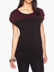 Colour-Block Nursing Top with Shoulder Snaps | Shop Online at Thyme Maternity