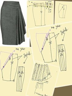 Skirt Patterns Sewing, Clothing Patterns, Sewing Clothes, Diy Clothes, Pattern Draping, Make Your Own Clothes, Diy Dress, Wrap Dress, Jacket Pattern